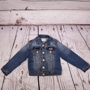 EUC Hudson Girls Distressed Denim Jacket Size 3T